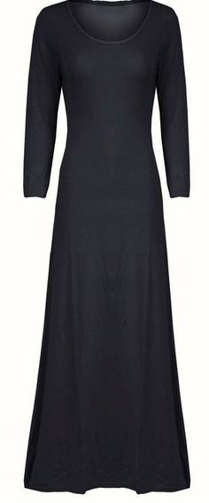 plain black maxi dress <3