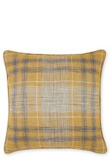 Buy Small Ochre Astley Woven Boucle Check Cushion from the Next UK online shop Checked Cushions, Large Cushions, Large Sofa, Decorative Cushions, Scatter Cushions, Cushions On Sofa, Pillows, Living Room Decor Colors, Living Room Green