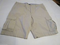 Men's Tommy Hilfiger 38 shorts cargo 270 Stone 860616854 walk casual TH RARE