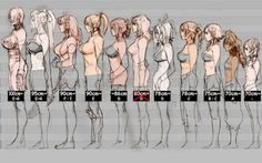 Soul-Calibur-breast-chart- Apparently there are strict guidelines for measurements....of fictional fighting game characters.....go figure. Ha. That's punny!