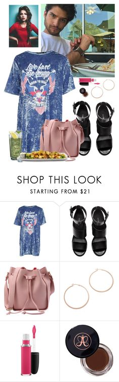"""""""Lunch W/ Tyler Posey"""" by almendrita1802 ❤ liked on Polyvore featuring Boohoo, H&M, Jennifer Zeuner, MAC Cosmetics, Anastasia Beverly Hills and Tequila Mockingbird"""