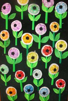 flores con botellas 5