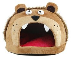 Roar Bear Snuggle Plush Polar Fleece Pet Bed Light Brown One Size ** Check this awesome product by going to the link at the image.