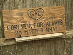 Rustic Custom Carved wood sign from reclaimed wood - personalized with wedding date anniversary - western cedar. $65.00, via Etsy.