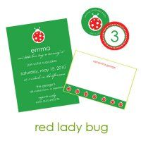 Red Lady Bug Collection : WH Hostess, Stationery Custom Designs Party Planning Holidays Birth Announcement Collections