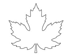 Printable full page maple leaf pattern. Use the pattern for crafts, creating stencils, scrapbooking, and more. Free PDF template to download and print at http://patternuniverse.com/download/large-maple-leaf-pattern/.