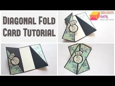Diagonal fold card Tutorial by Srushti Patil - YouTube