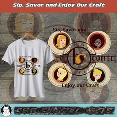 A #tshirt #Design for #coffee #shop #ideas is for #retro #girls in retro circle with #logo from #contest holder. #wish me #luck :D #TripleTees