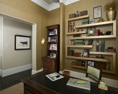 The Shelving! Contemporary Home Office Design, Pictures, Remodel, Decor and Ideas
