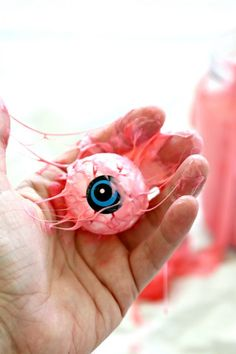 DIY this Disgusting Eyeball Slime / Pink Sludge inspired by Pink Slime River in the new Ghostbusters movie. It's a fantastic Halloween DIY!