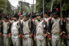 Participants in a re-enactment of the Battle of Waterloo.