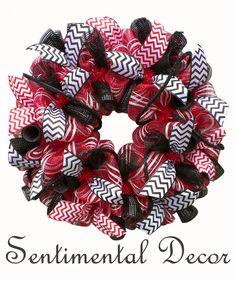 UGA Pride Deco Mesh Wreath University of by SentimentalDecor, $70.00
