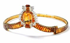 Cartier London Citrine and Diamond Tiara made for the coronation of George VI…