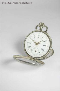 """Fantástico relógio de bolso ricamente trabalhado antigo """"""""Remontoir"""""""" Cylindre, orig"""