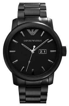 Emporio Armani Oversized Round Bracelet Watch.