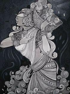 Mandala Drawing, Mandala Art, Cute Doodle Art, Abstract Face Art, Madhubani Art, Dark Art Drawings, Indian Folk Art, Africa Art, Indian Art Paintings