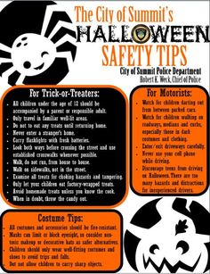 Safe Hallowe'en how-tos from the experts!