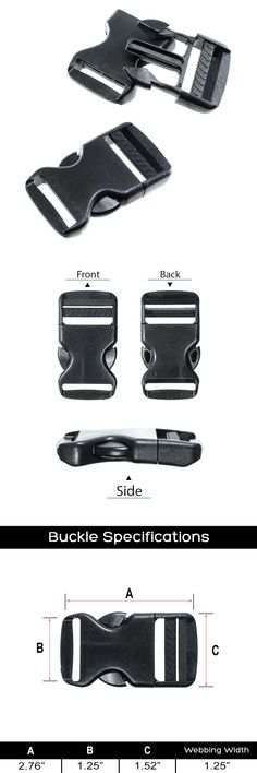 Buckles & Hooks Apparel Sewing & Fabric 1 Webbing Plastic Tri-glide Slider Adjustable Buckle Hardware Black For Outdoor Backpack Apparel Straps Numerous In Variety