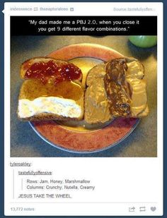 list of awesome tumblr posts. I'm absolutely dying from that last comment