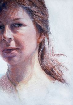 """Self"" Detail, 42x60 cm / Pastel on Paper / 2015"
