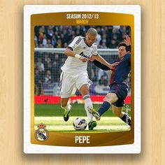 Real Madrid Collections - Pepe 13 March, Real Madrid, Collections, Seasons, Baseball Cards, Hs Sports, Seasons Of The Year