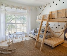 The Coolest Bunk Beds Ever Bunk beds are not only so fun for kids but they're super practical too. They save so much space especially when you have a small room that has to be shared by 2 or 3 siblings or even a room for one since you can use the space under for a desk or other storage. Here're some great ideas: http://petitandsmall.com/coolest-bunk-beds-kids-room/