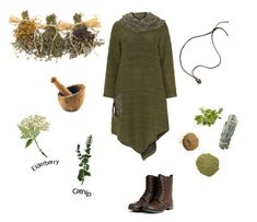 Herbal Witch No. 6 by melyanna-info on Polyvore featuring Kekoo, BergHOFF, mori, witch and forestgirl