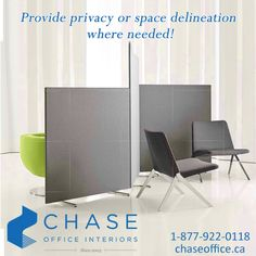 Are you looking for lightweight screens that respond to varying needs of the open office, that can quickly provide privacy or space delineation where needed? Call 1-877-922-0118.
