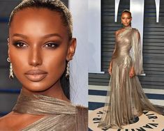 OMG this makeup on Jasmine Tookes for the Oscars is AMAZING 🛌❤️😍  #Follow our Instagram at www.instagram.com/zenmagafrica #ZenMagazine