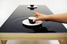 Ripple effect tea table (2010) by  Jeonghwa Seo  AMAZING!