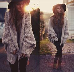 Cheap pull fashion, Buy Quality knitted cardigan directly from China long cardigan Suppliers: Fashion Batwing Sleeve Long Cardigan Women Casual Loose Khaki Sweaters Knitted Cardigans Pull Femme Loose Knit Sweaters, Cardigan Sweaters For Women, Casual Sweaters, Sweater Coats, Cardigans For Women, Coats For Women, Sweater Jacket, Comfy Sweater, Big Sweater