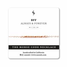 BFF Always & Forever - Morse code necklace