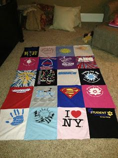 How to make a T-shirt Quilt... i have a box of shirts waiting to be cut and sewn