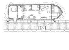 Cullinan house-boat, floor plan, #map, #rpg, #jdr, kosmic dungeon