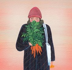 A girl with a bunch of carrots / kyenam