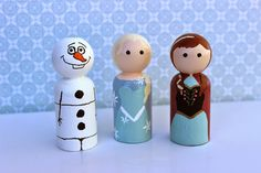 DIY Peg Dolls from frozen