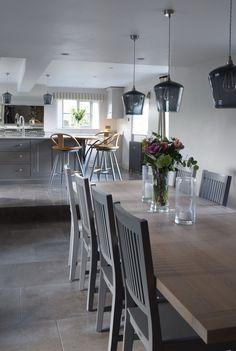 New kitchen grey worktop farrow ball 24 ideas Kitchen Wall Colors, Kitchen Decor Themes, Kitchen Tiles, Kitchen Flooring, Cottage Kitchens, Grey Kitchens, Cool Kitchens, Shaker Kitchen, New Kitchen