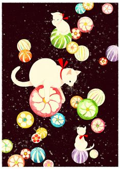 candy cats. This is so fanciful, I had to smile.