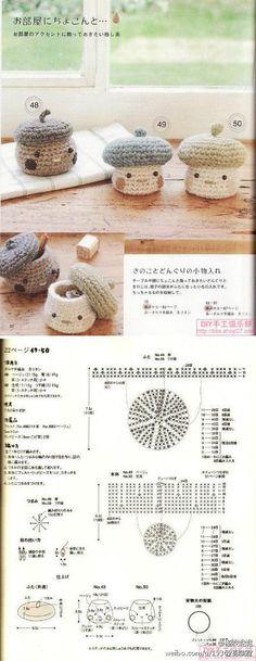 39 Patterns of friendly Amigurumis ll (Patterns in Spanish), Kawaii Crochet, Crochet Food, Crochet Chart, Crochet Gifts, Cute Crochet, Crochet Flower Patterns, Crochet Patterns Amigurumi, Crochet Dolls, Doll Patterns
