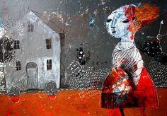 "Saatchi Art Artist Rusudan Khizanishvili; Painting, ""The Silver House"" #art"