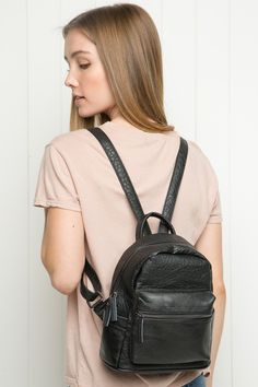 Brandy ♥ Melville | Mini Leather Backpack - Accessories