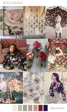 Wild Roses | PatternCurator | Style Color Palettes | Colour | Fashion Color Palettes | Mood Boards | Color Inspiration | Personal Style Online | Online Fashion Stylist | Fashion For Working Moms & Mompreneurs