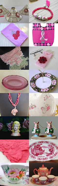 SHOW ME YOUR PINKS! TeamVintageUSA Salute To Pinks :) by Karen and Tammy on Etsy--Pinned+with+TreasuryPin.com