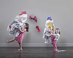 Photographer Jason Lee portraits his two daughters. Great fun!