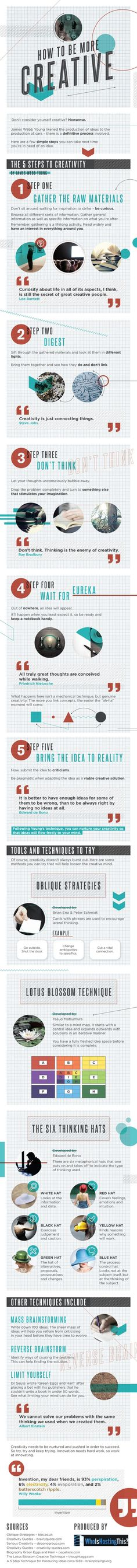 How To Be More Creative [#infographic]