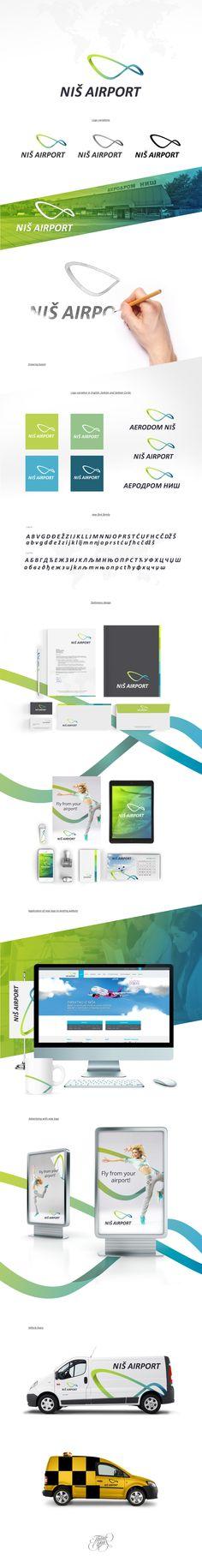 Brand Identity | Niš Airport on Behance