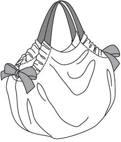 Ball bag looks like a pillowcase dress that has been made into a purse!