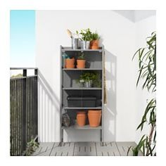 IKEA - HINDÖ, Greenhouse cabinet, indoor/outdoor, Use this greenhouse for growing your own vegetables, fruit and herbs, and for storing pots, herb scissors and other accessories you want close at hand.You can adjust the height of the shelves to suit your needs.Stands evenly on an uneven floor since the feet can be adjusted.The greenhouse/storage cabinet is durable, easy to clean and protected from rust, as it is made of powder-coated steel.