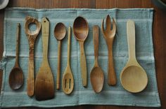 Wooden Tools And Homemade Spoon Butter