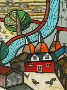 A detail of Suzie Moxley's stained glass window
